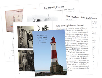 The Story of the Beachy Head Lighthouse by Rob Wassell a book about the history of the Beachy Head Lighthouse