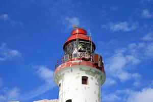 Beachy Head Lighthouse lantern first coat of paint