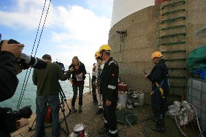 BBC at the Beachy Head Lighthouse