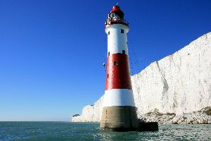 Beachy Head Lighthouse finishing the stripes