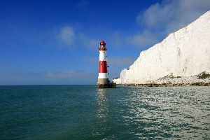 The Beachy Head Lighthouse new stripes