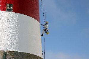 Hugh abseil painter at the Beachy Head Lighthouse